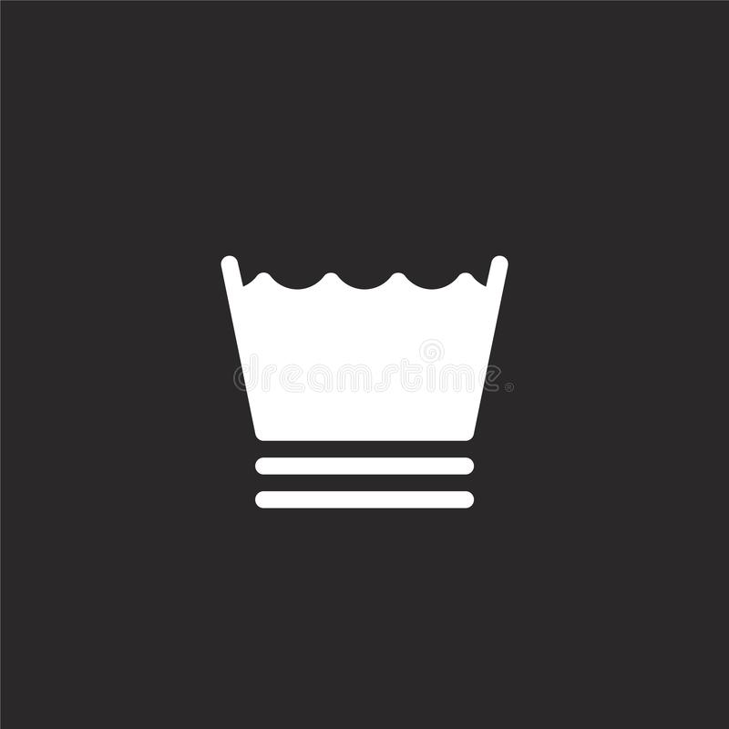 icono sintético Icono sintético llenado para el diseño y el móvil, desarrollo de la página web del app icono sintético del lavade stock de ilustración