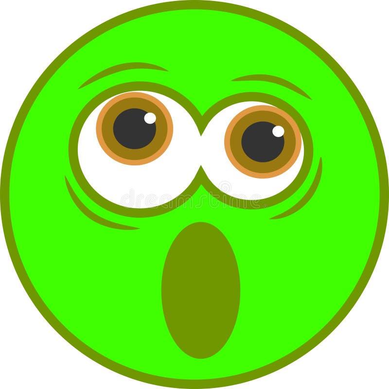 Icono sonriente dado una sacudida eléctrica libre illustration