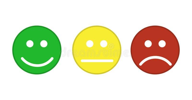 Icono sonriente de los emoticons ilustración del vector