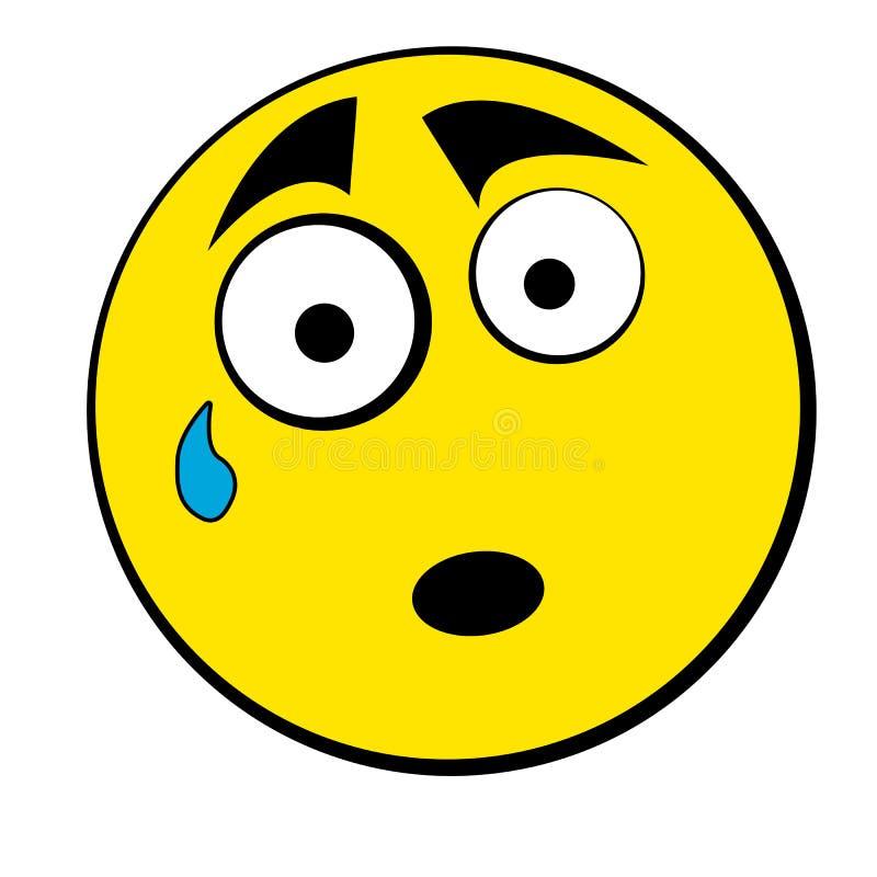 Icono sonriente triste stock de ilustración