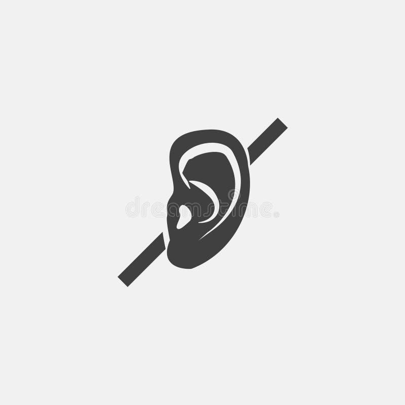 icono sordo ilustración del vector