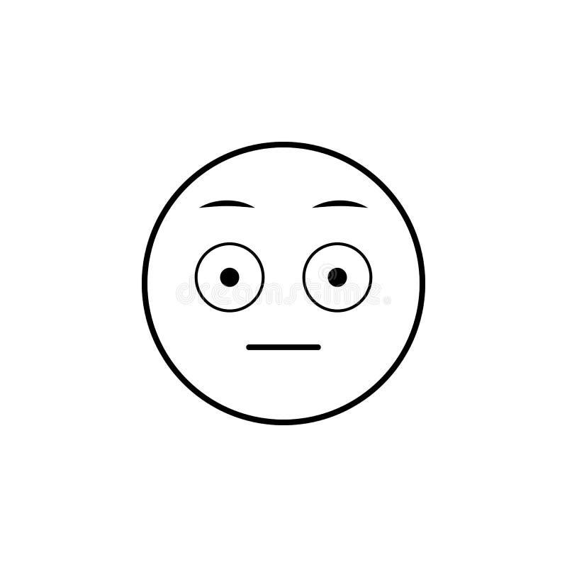 Icono sorprendido Sistema detallado de avatares de los iconos de las profesiones Línea superior diseño gráfico de la calidad Uno  stock de ilustración