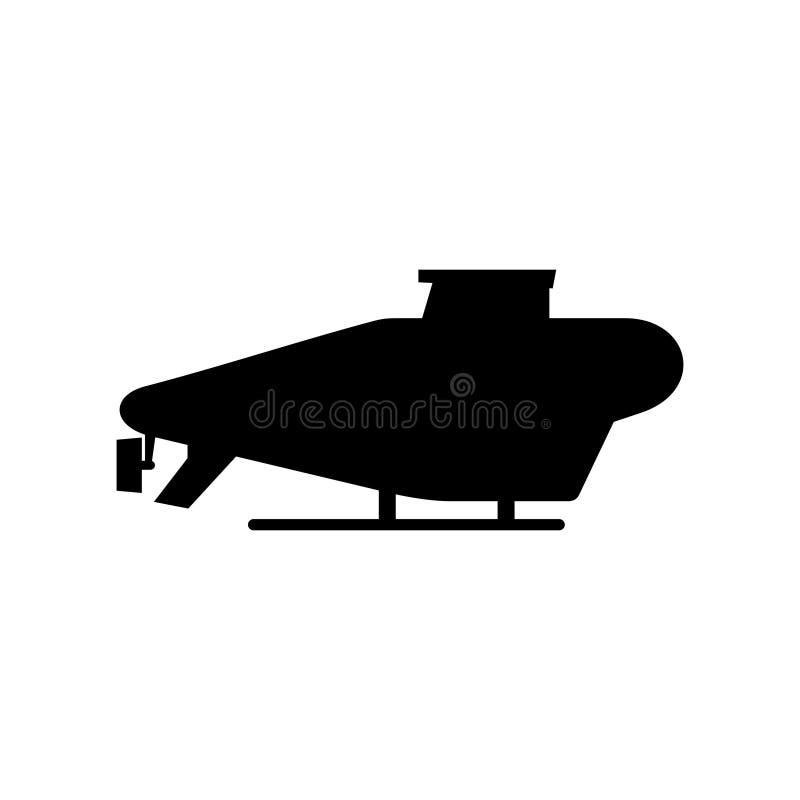 Icono submarino que vuela ilustración del vector