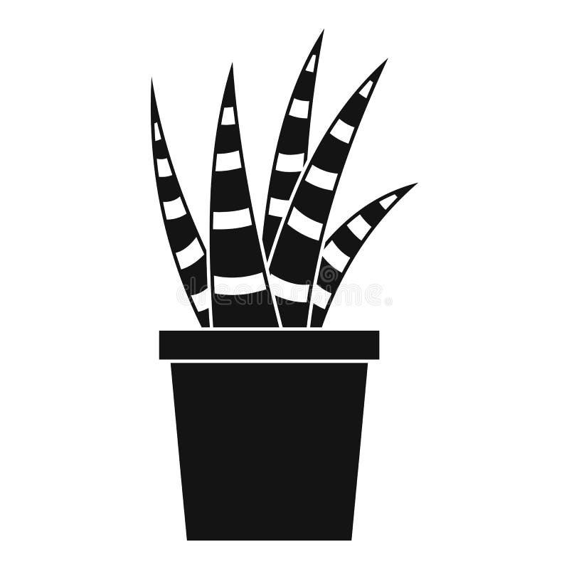 Icono suculento, estilo simple stock de ilustración