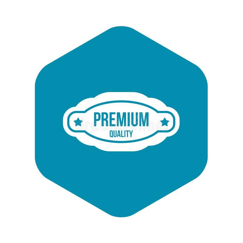 Icono superior de la etiqueta de la calidad, estilo simple stock de ilustración