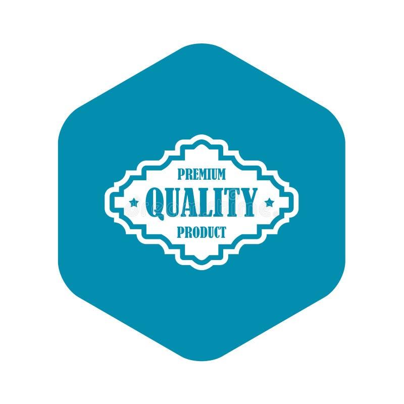 Icono superior de la etiqueta del producto de calidad, estilo simple stock de ilustración