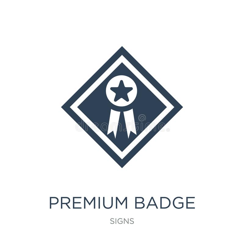 icono superior de la insignia en estilo de moda del diseño icono superior de la insignia aislado en el fondo blanco icono superio libre illustration