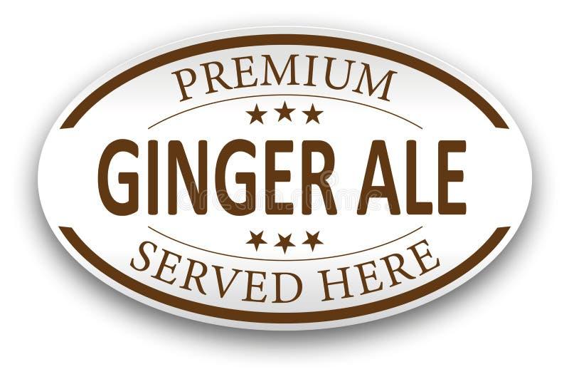 Icono superior del sello del vintage del papel del ginger ale de Brown stock de ilustración