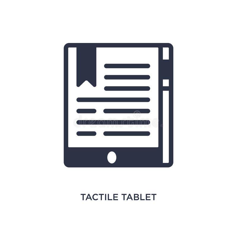 icono táctil de la tableta en el fondo blanco Ejemplo simple del elemento del concepto de la educación ilustración del vector