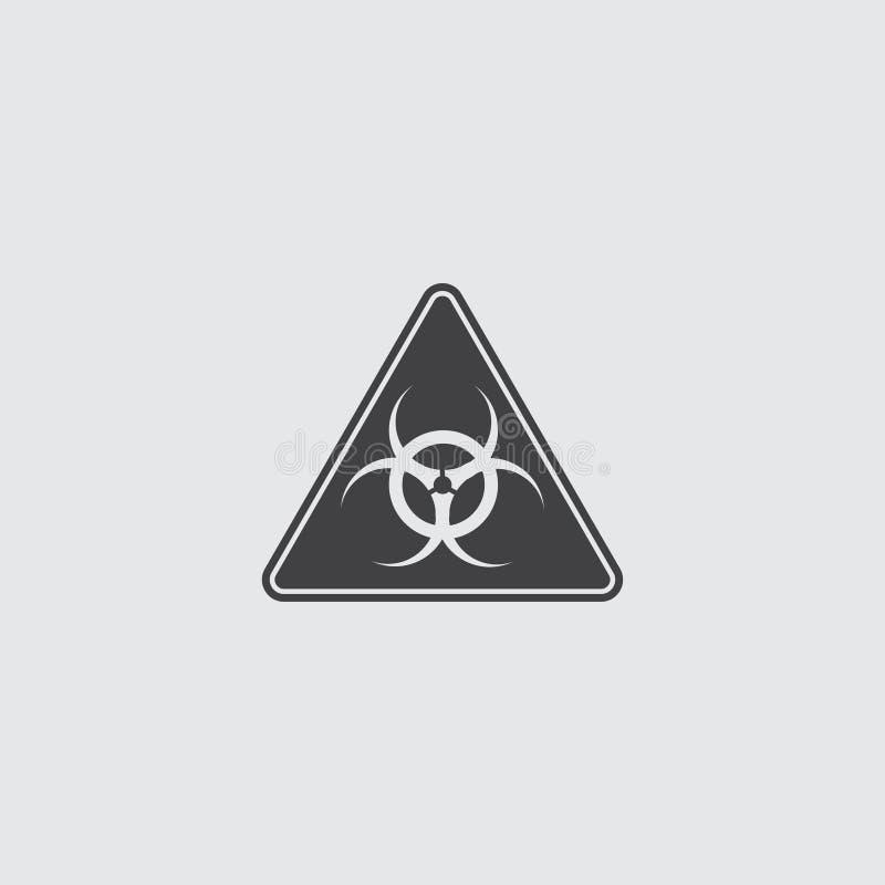 Icono tóxico de la muestra en un diseño plano en color negro Ilustración EPS10 del vector stock de ilustración