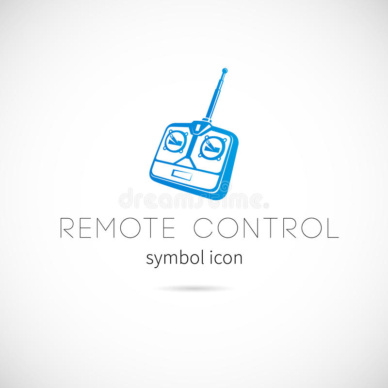 Icono teledirigido del símbolo del vector de la silueta o libre illustration