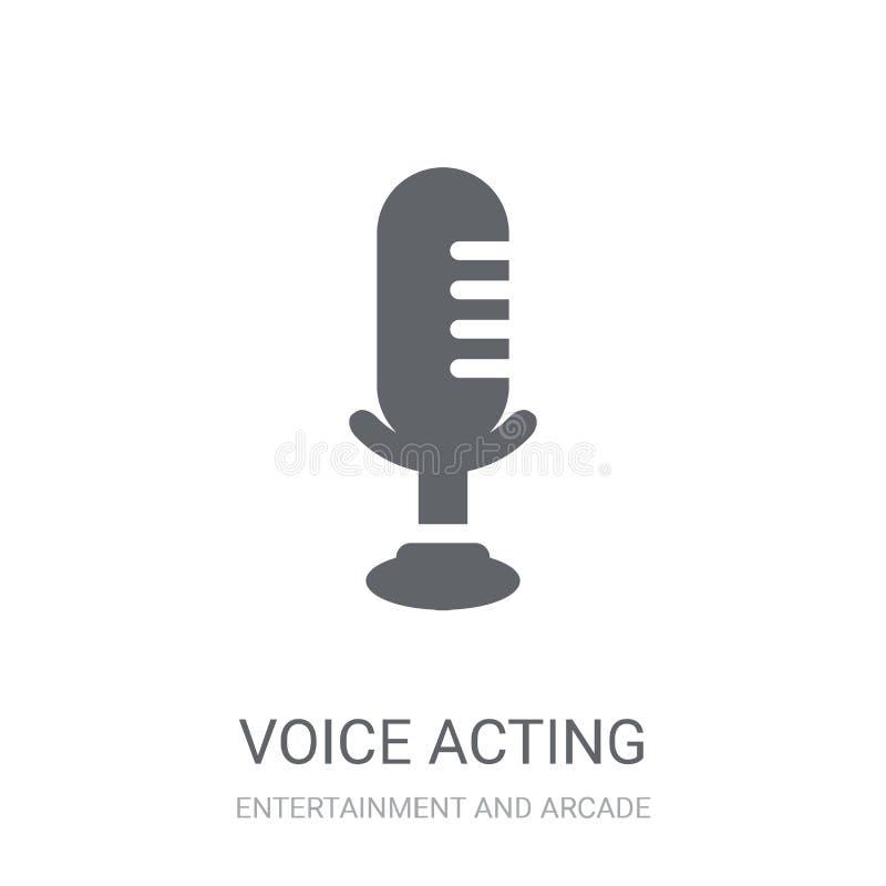 icono temporario de la voz  stock de ilustración