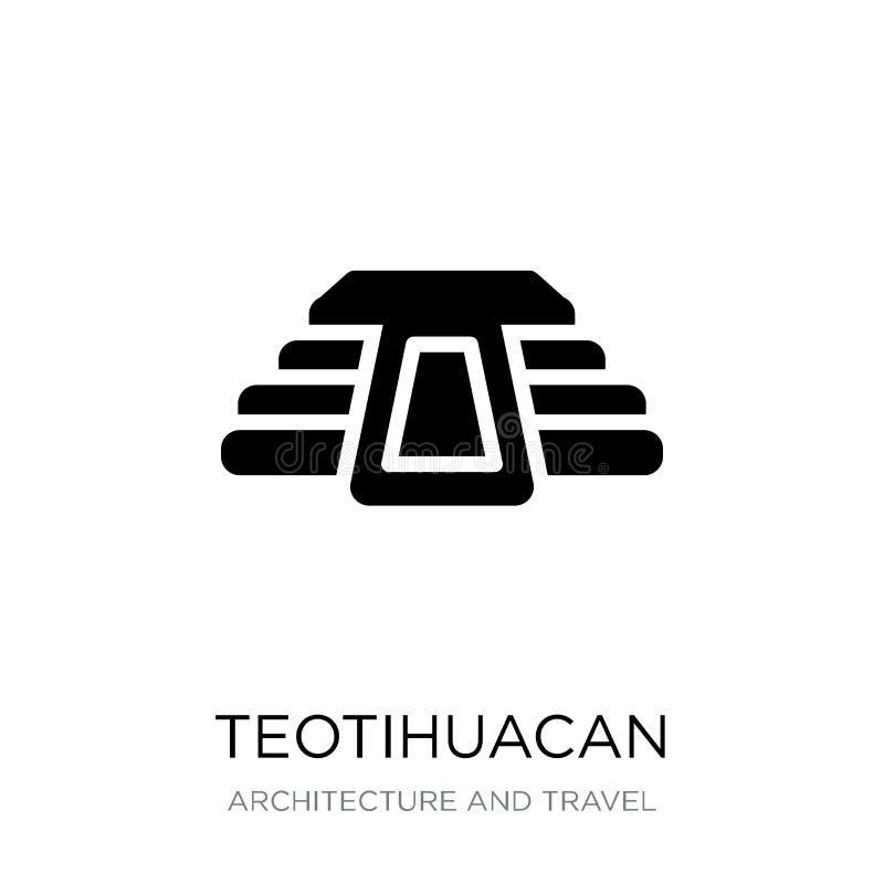 icono teotihuacan en estilo de moda del diseño Icono de Teotihuacan aislado en el fondo blanco icono teotihuacan del vector simpl libre illustration