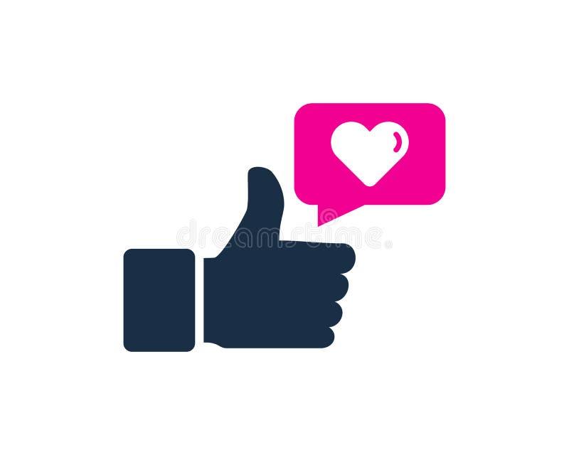 Icono testimonial Logo Design Element del amor ilustración del vector