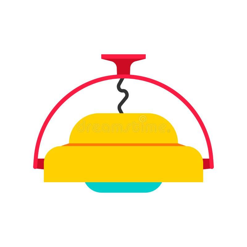 Icono tradicional colgante del vector del equipo del objeto del estilo de la lámpara Sitio eléctrico de la lámpara de la linterna ilustración del vector