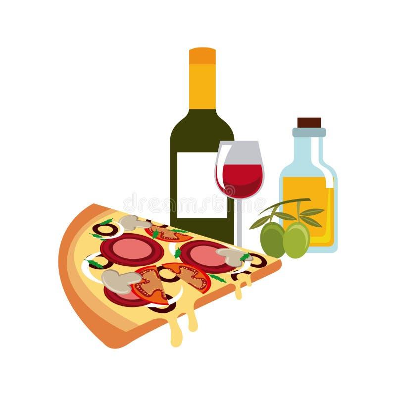 Icono tradicional de la comida Diseño de la cultura de Italia Gráfico de vector ilustración del vector