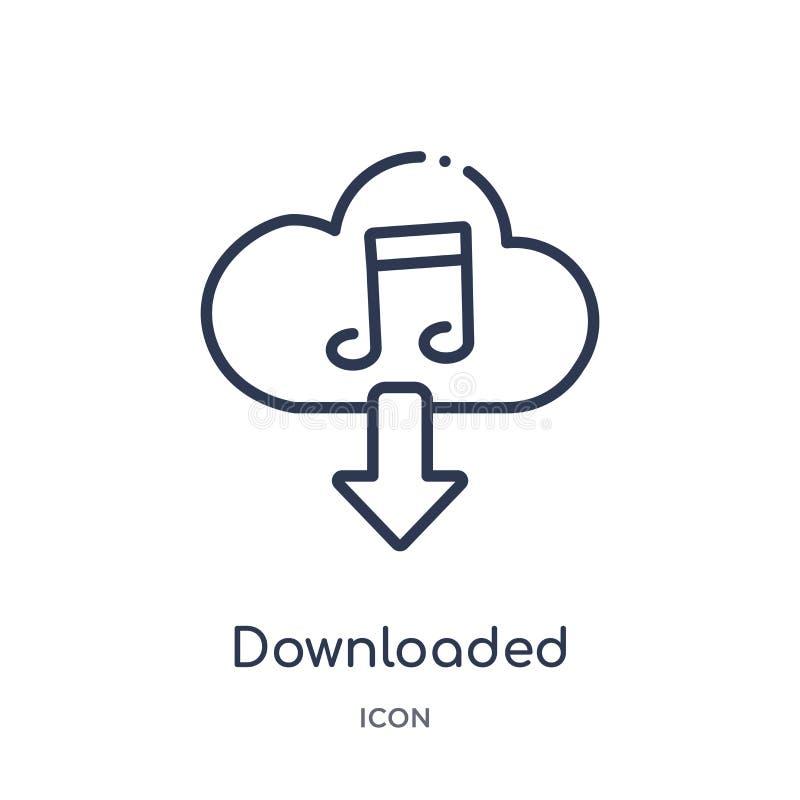 icono transferido de la nube de la música de la música y de la colección del esquema de los medios La línea fina transfirió el ic libre illustration