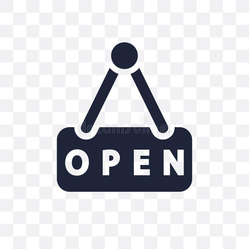 Icono transparente abierto Diseño abierto del símbolo del collec del restaurante libre illustration