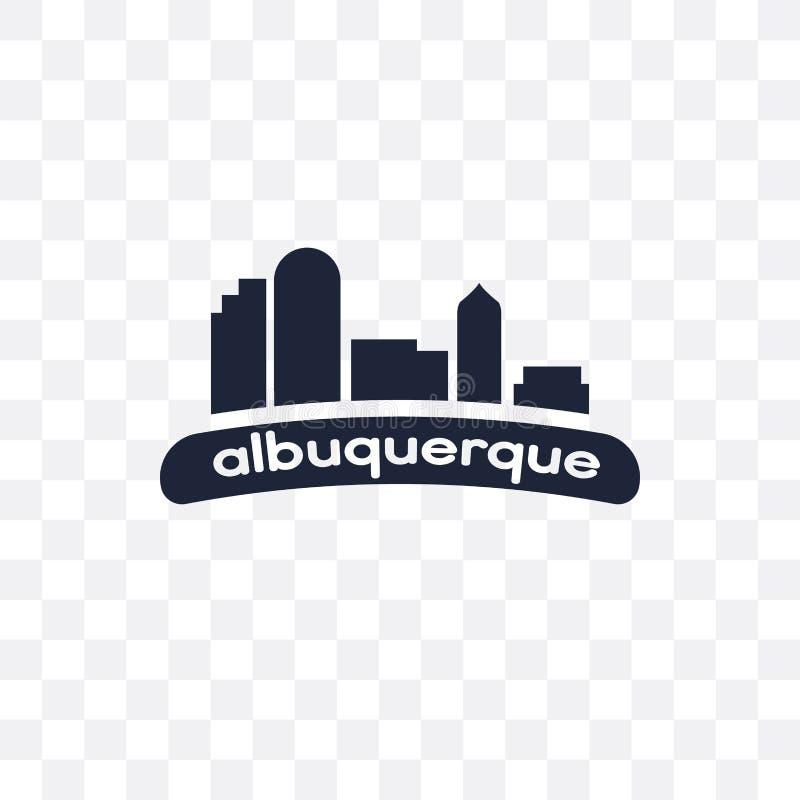 icono transparente de Albuquerque diseño del símbolo de Albuquerque de Uni stock de ilustración