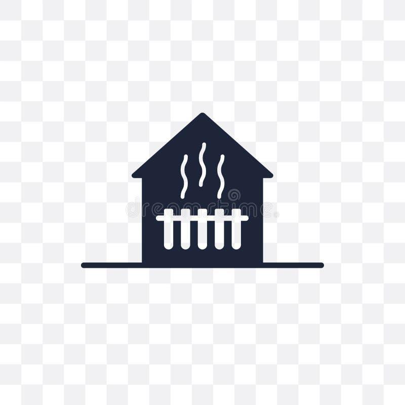 Icono transparente de calefacción Diseño de calefacción del símbolo de Smarthome c libre illustration