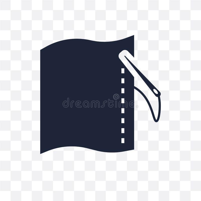 Icono transparente de costura El diseño de costura del símbolo de cose el colle stock de ilustración