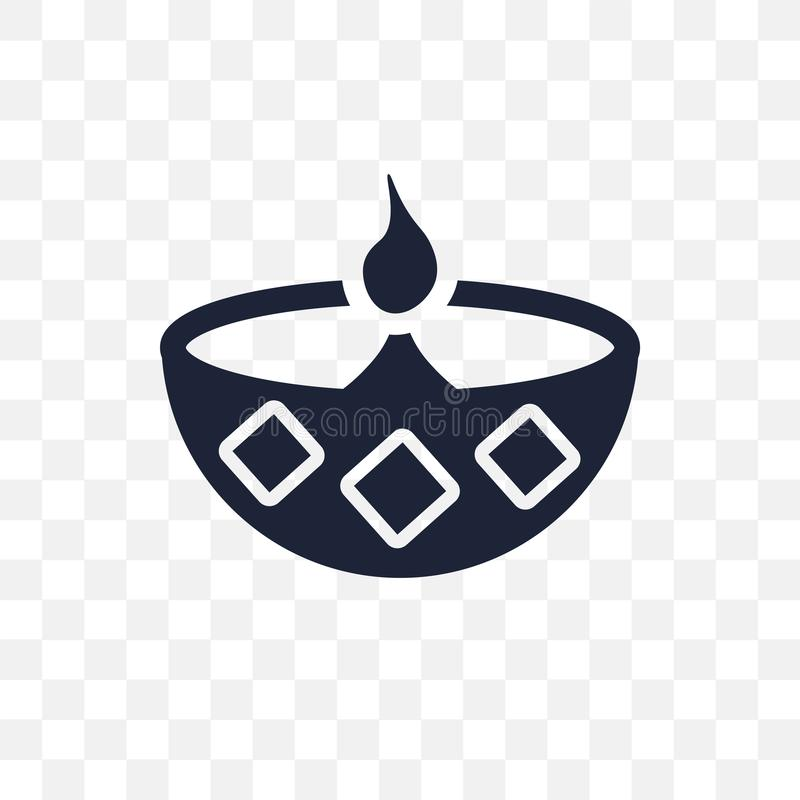Icono transparente de Diwali Diseño del símbolo de Diwali del coll de la religión libre illustration