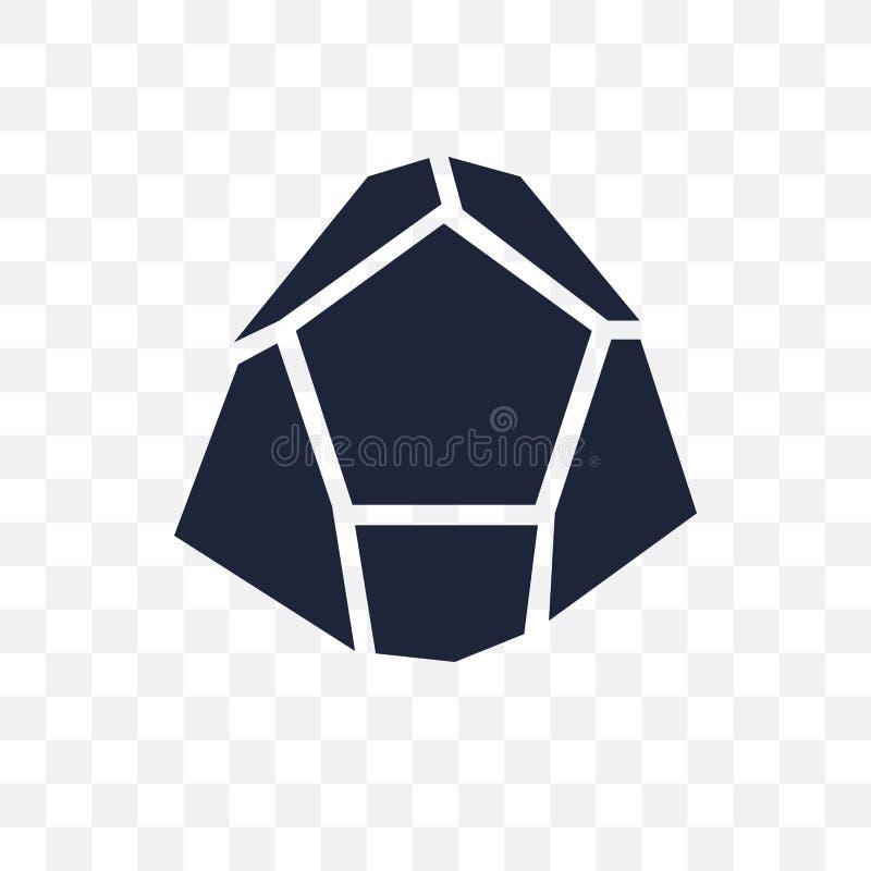 Icono transparente de Dodecahedron Diseño del símbolo de Dodecahedron de G libre illustration