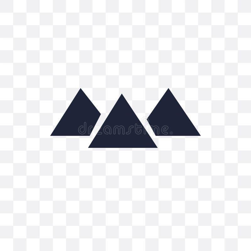 Icono transparente de Giza Diseño del símbolo de Giza del coll de la arquitectura ilustración del vector