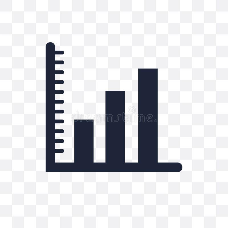 Icono transparente de la carta de barra Diseño del símbolo de la carta de barra de Analyti stock de ilustración