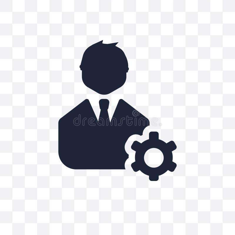 Icono transparente de la gestión Diseño del símbolo de la gestión de Busin stock de ilustración