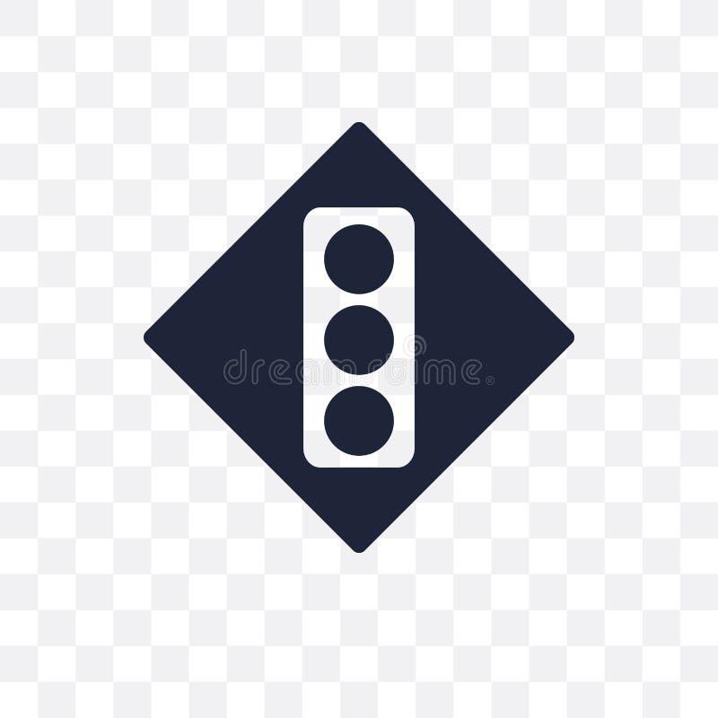 Icono transparente de la muestra de la señal Diseño del símbolo de la muestra de la señal de Tra libre illustration