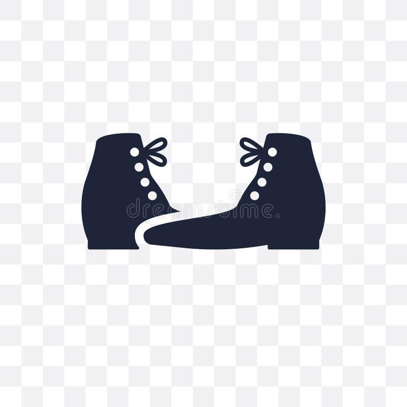 icono transparente de las botas enérgicas diseño enérgico del símbolo de las botas de clo ilustración del vector