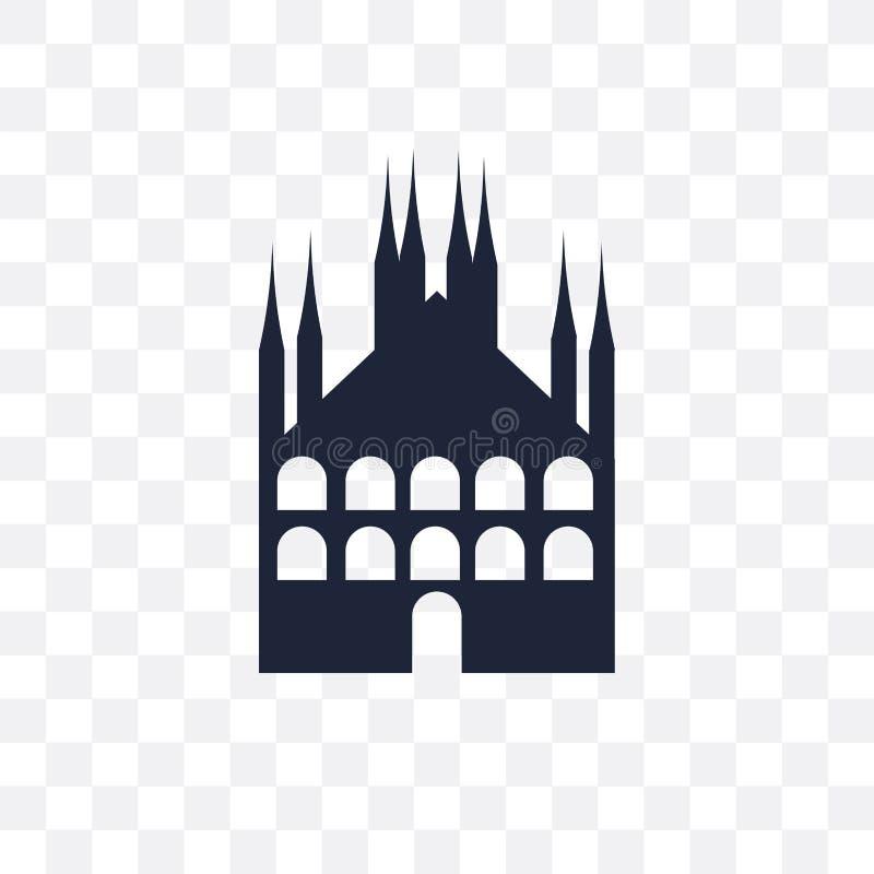 Icono transparente de Milán Diseño del símbolo de Milán de la arquitectura co libre illustration