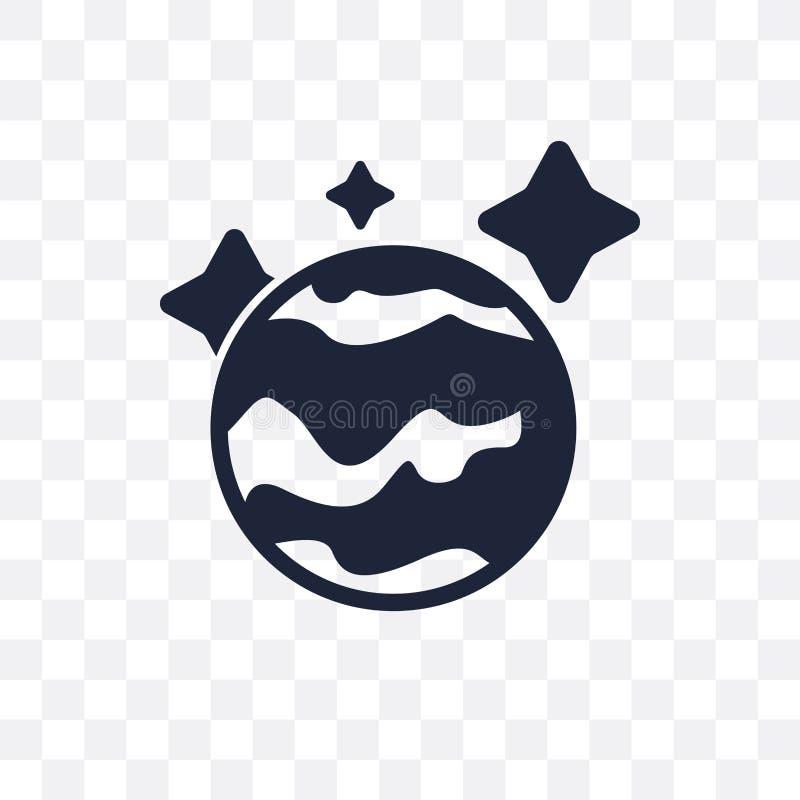Icono transparente de Neptuno Diseño del símbolo de Neptuno de la astronomía c libre illustration