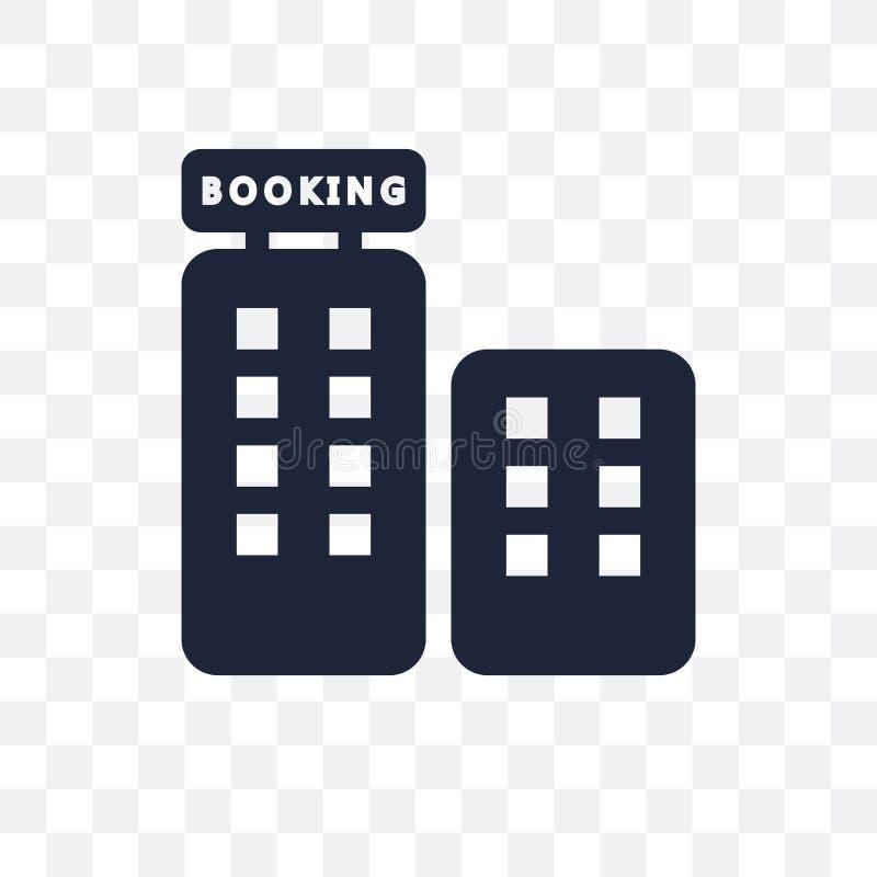 Icono transparente de reservación Diseño de reservación del símbolo del colle del hotel stock de ilustración