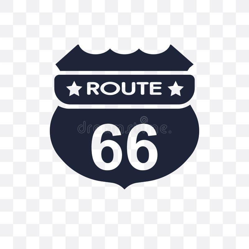 Icono transparente de Route 66 Diseño del símbolo de Route 66 del st unido ilustración del vector