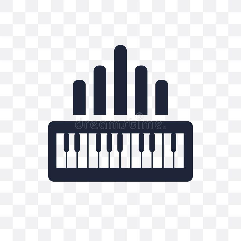 Icono transparente del órgano Diseño del símbolo del órgano del collectio de la música ilustración del vector