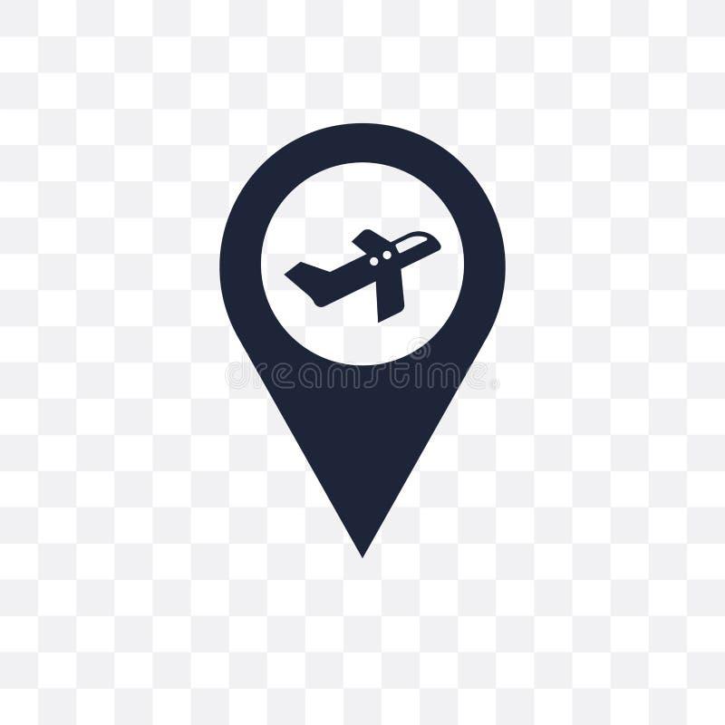 Icono transparente del aeropuerto Diseño del símbolo del aeropuerto de Architectur libre illustration