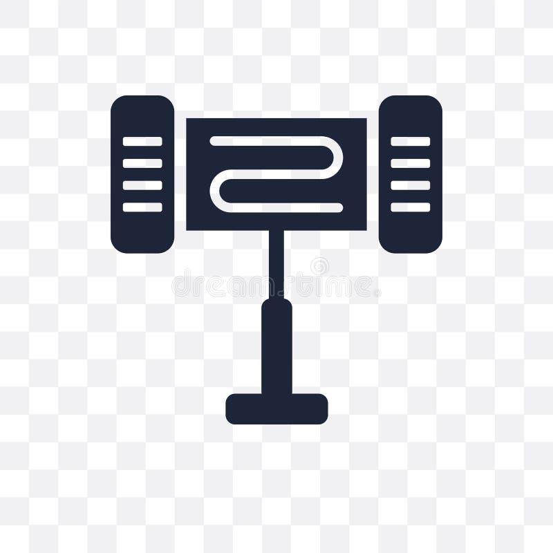 Icono transparente del calentador eléctrico Diseño del símbolo del calentador eléctrico stock de ilustración