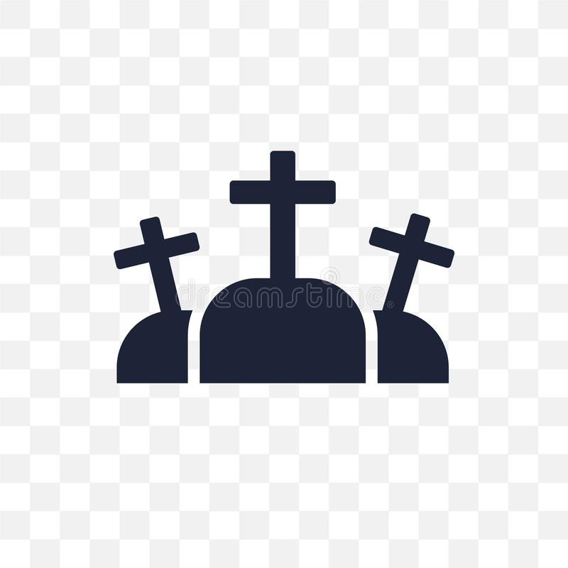 Icono transparente del Calvary Diseño del símbolo del Calvary de la religión co stock de ilustración