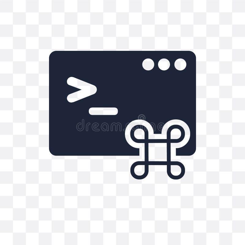 Icono transparente del comando Diseño del símbolo del comando de la programación ilustración del vector