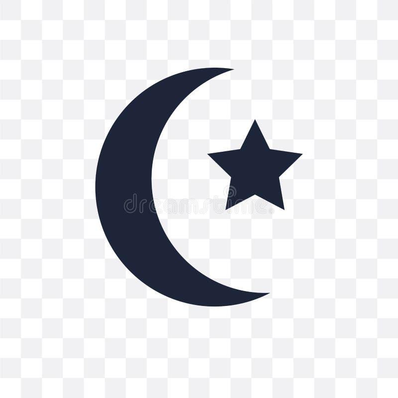 Icono transparente del Islam Diseño del símbolo del Islam del collec de la religión ilustración del vector
