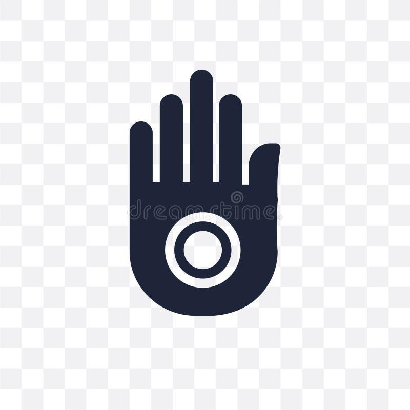 Icono transparente del jainismo Diseño del símbolo del jainismo de la religión co ilustración del vector