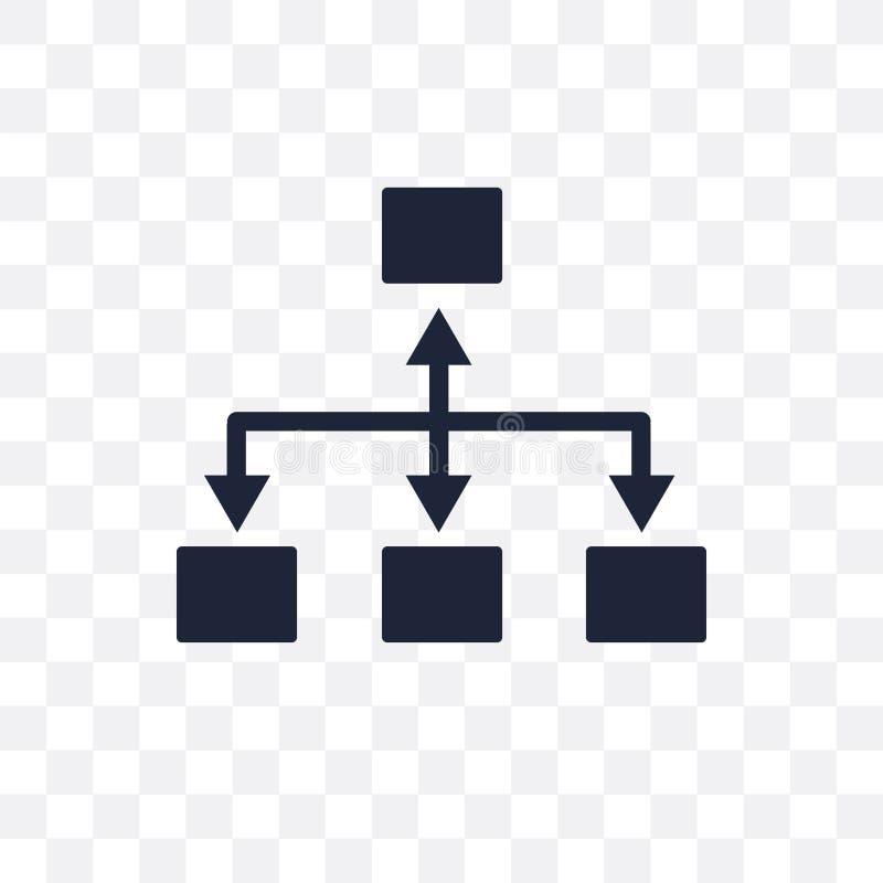 Icono transparente del organigrama Diseño del símbolo de organigrama de Analy stock de ilustración