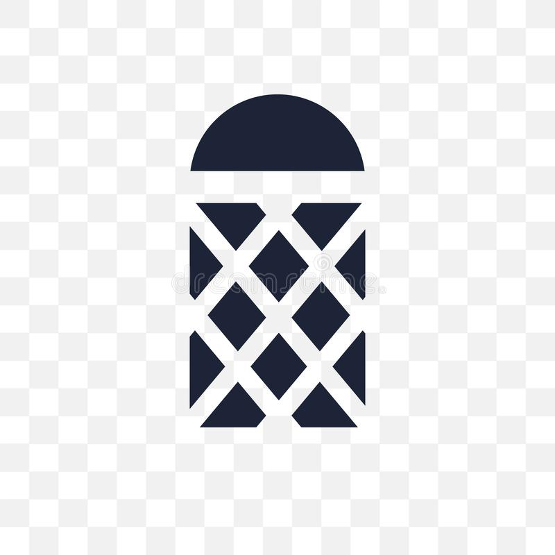 Icono transparente del pepinillo Diseño del símbolo del pepinillo de Architectur stock de ilustración