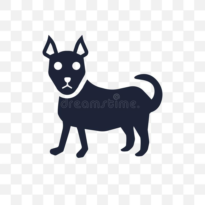 Icono transparente del perro de la chihuahua Diseño del símbolo del perro de la chihuahua de libre illustration