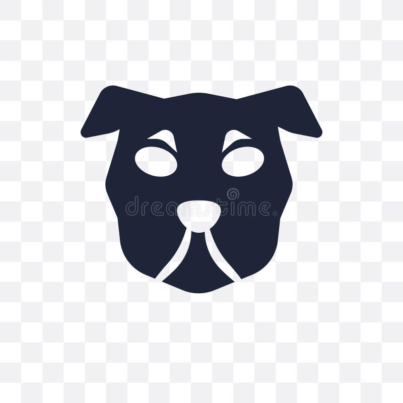 Icono transparente del perro de Shar Pei Diseño del símbolo del perro de Shar Pei de D ilustración del vector
