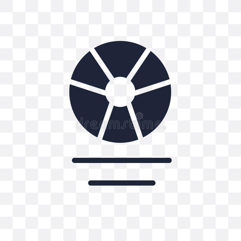 Icono transparente del rayo gama Diseño del símbolo del rayo gama de Astrono stock de ilustración