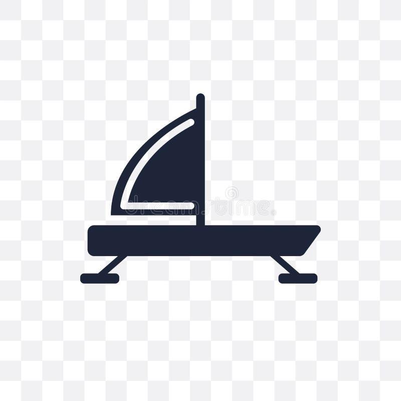 icono transparente del rompehielos diseño del símbolo del rompehielos del co náutico stock de ilustración