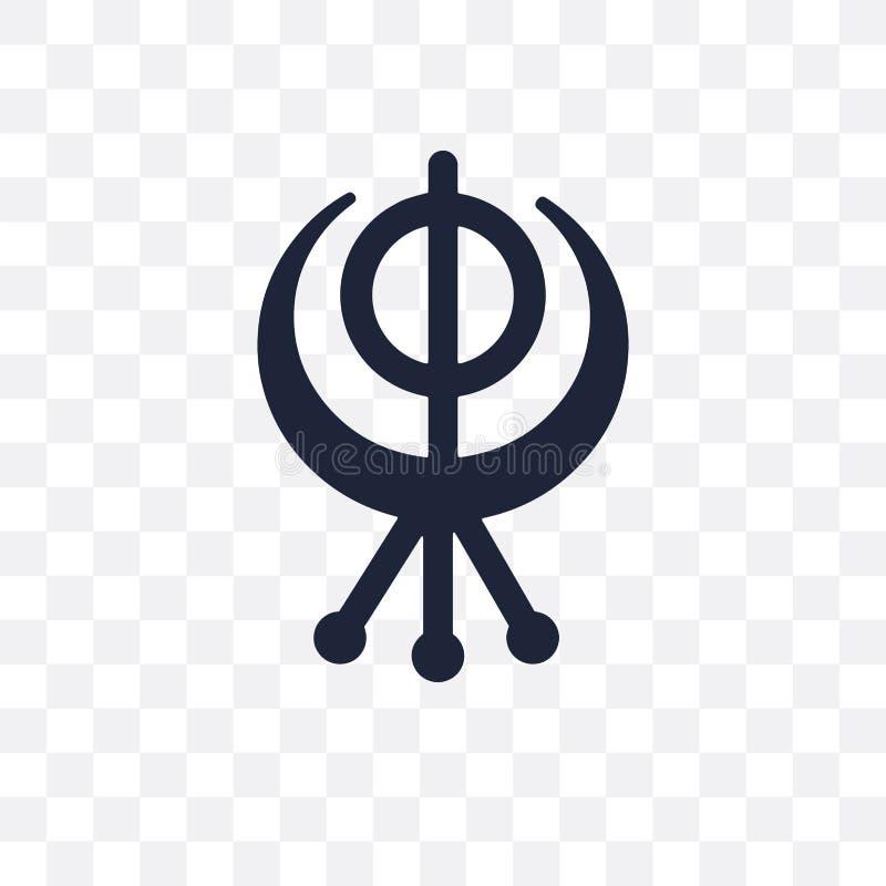 icono transparente del sikhism diseño del símbolo del sikhism del colle de la India ilustración del vector